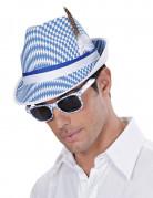 Oktoberfest Brille Kostümaccessoire blau-weiß