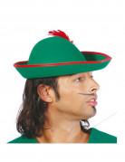 Tiroler Hut mit Feder Kostüm-Zubehör grün-rot