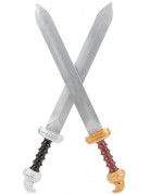 Schwerter-Set für Kinder grau-bunt
