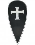 Kreuzritter-Schild für Kinder Ritteraccessoire weiss-rot-gold