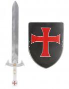 Kreuzritter Set für Kinder Schwert und Schild bunt