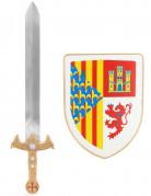 Ritter-Set für Kinder Schwert und Schild bunt