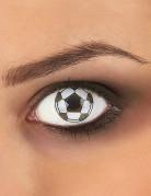 Kontaktlinsen Fussball schwarz-weiss