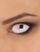 Blutspritzer-Kontaktlinsen Halloween-Kontaktlinsen weiss-rot