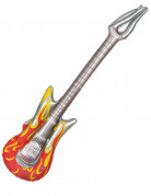 Aufblasbare Rock-Gitarre silber-rot-gelb
