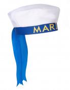 Matrosenmütze mit Bändern Marinemütze weiss-blau-gelb