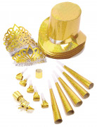 Silvester Party-Set Happy New Year 21-teilig gold-silber-weiss