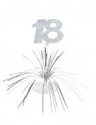 Tisch-Aufsteller - Zahl 18 Partyzubehör schwarz-gold-weiß 23 x 30 cm