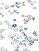 Tischkonfetti - Silvester 3 Motive silber je ca. 1 cm 18,1g