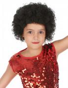 Perücke mit Locken in Schwarz für Kinder