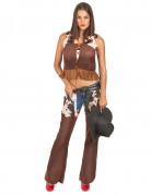Sexy Cowgirl Damenkostüm braun-beige