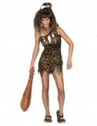 Sexy Steinzeitfrau Urmensch Kostüm braun-beige