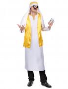 Arabischer Scheich Herrenkostüm weiss-gelb