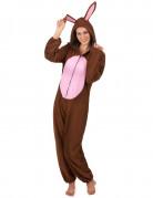 Hasenkostüm Osterkostüm für Damen braun-rosa