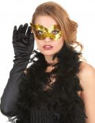 Venezianische Augenmaske Karnevalsmaske gold 6,5x17,5cm