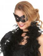Augenmaske mit Pailletten schwarz