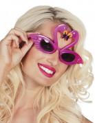 Flamingo-Brille Erwachsene pink-schwarz