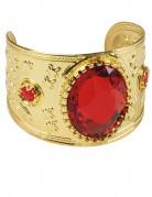 Orientalisches Armband mit Schmuckstein gold-rot