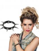 Punk-Armband Kostümaccessoire Gothic schwarz-silber