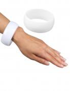Armreif breit Kostümaccessoire Disco weiß 3 x 6,7 cm