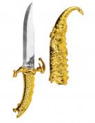 Orientalisches Messer mit Scheide gold-silber 33cm