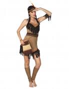 Handtasche Kostümaccessoire Indianer beige-braun-rot 31 cm lang
