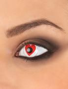 Kontaktlinsen Herz rot-weiss