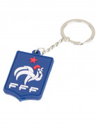Frankreich Fan FFF Schlüsselanhänger Lizenzartikel Fußball blau-weiß-rot 3 x 4 cm