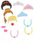 Prinzessin Photobooth-Set Partydekoration 12-teilig mehrfahrbig