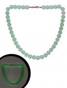 Phosphoreszierende Ketten Kostümaccessoire grün 40 cm