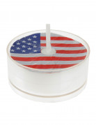 Kerzen Teelichter USA Flagge Partydekoration weiß-blau-rot 3,5 cm