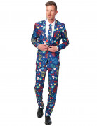 Suitmeister Anzug Casino blau-bunt