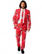 Opposuits Weihnachts-Anzug Schneemänner Plus Size rot-bunt