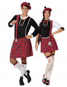 Schotten Pärchen Kostüm-Set für Mann und Frau schwarz-rot-weiss