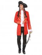 Traditionelles Piraten Erwachsenenkostüm rot