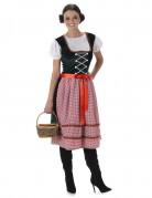 Dirndl-Kostüm Bayerin-Damenkostüm Tracht schwarz-rot-weiss