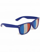 Französische Fan-Brille blau-weiß-rot