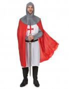 Kreuzritter Kostüm Ritter Verkleidung weiss-rot-grau