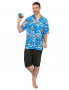 Hawaiitourist-Kostüm Urlauber-Kostüm blau-bunt