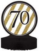 Geburtstags-Tischaufsteller 70 Jahre schwarz-gold