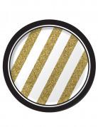Partyteller Silvester-Teller 8 Stück gold-weiss-schwarz 18cm