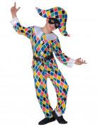 Harlekin-Kostüm Commedia dell´Arte für Kinder bunt
