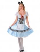 Alice-Damenkostüm Märchenkostüm blau-weiss