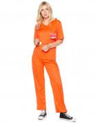 Gefangenen-Damenkostüm Sträfling orange