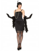 20er-Jahre Flapper Damenkostüm Charleston schwarz