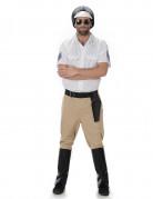 Streifen-Polizist Herren-Kostüm weiss-beige-schwarz