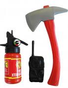 Feuerwehr-Accessoireset für Kinder 3-teilig rot