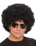 Disco Afro Perücke schwarz groß