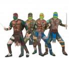 Ninja Turtles™-Gruppenkostüm Faschingskostüm bunt