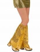 Disco Beinstulpen mit Pailletten für Erwachsene gold